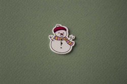Деревянный декор снеговик - фото 4813