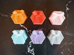 коробка для кольца шестиугольная - фото 5371